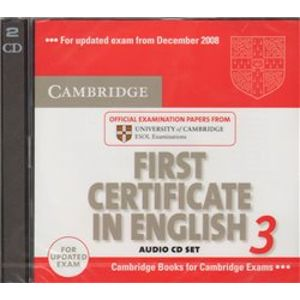 Cambridge First Certificate in English 3 for Updated Exam Audio CDs (1xCD-ROM)