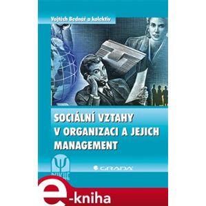 Sociální vztahy v organizaci a jejich management - Vojtěch Bednář e-kniha