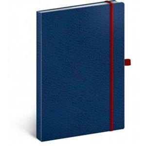 Notes - Vivella Classic modrý/červený, tečkovaný, 15 x 21 cm