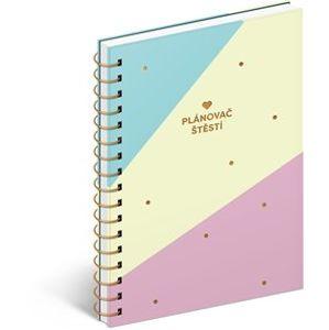 Denní diář Plánovač štěstí v dárkovém balení. 15,6 x 22,6 cm
