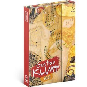 Týdenní magnetický diář Gustav Klimt 2021, 11 × 16 cm