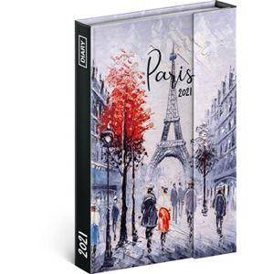 Týdenní magnetický diář Paříž 2021, 11 × 16 cm